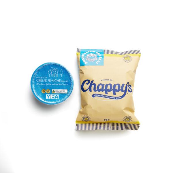 Chappy's Sea Salt Potato Chips and Yea Crèam Fraîche